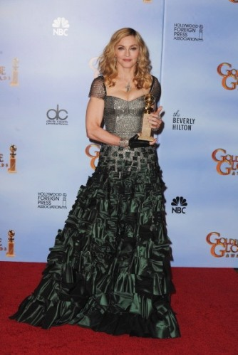 Golden Globes 2012 Madonna in Reem Acra 334x499 Golden Globes 2012: The Dresses