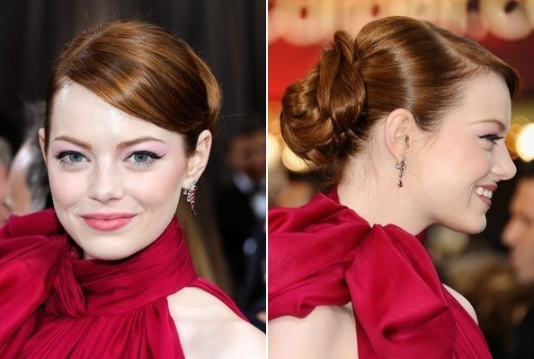 emma stone oscars 2012 hair Oscars 2012: The Best Hairstyles