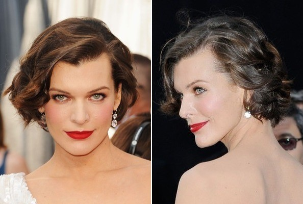 milla jovovich oscars hair Oscars 2012: The Best Hairstyles