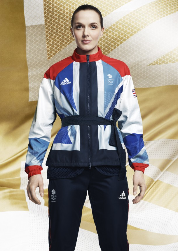 Victoria Pendleton TeamGB2012 Presentation1 610x862 London Olympics 2012: Stella McCartney designed Team GB kit revealed