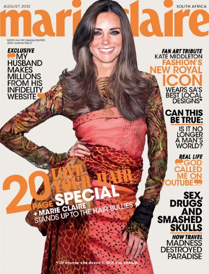 Kate Middleton Marie Claire South Africa Cover