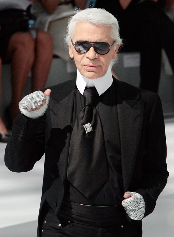 German designer Karl Lagerfeld acknowled