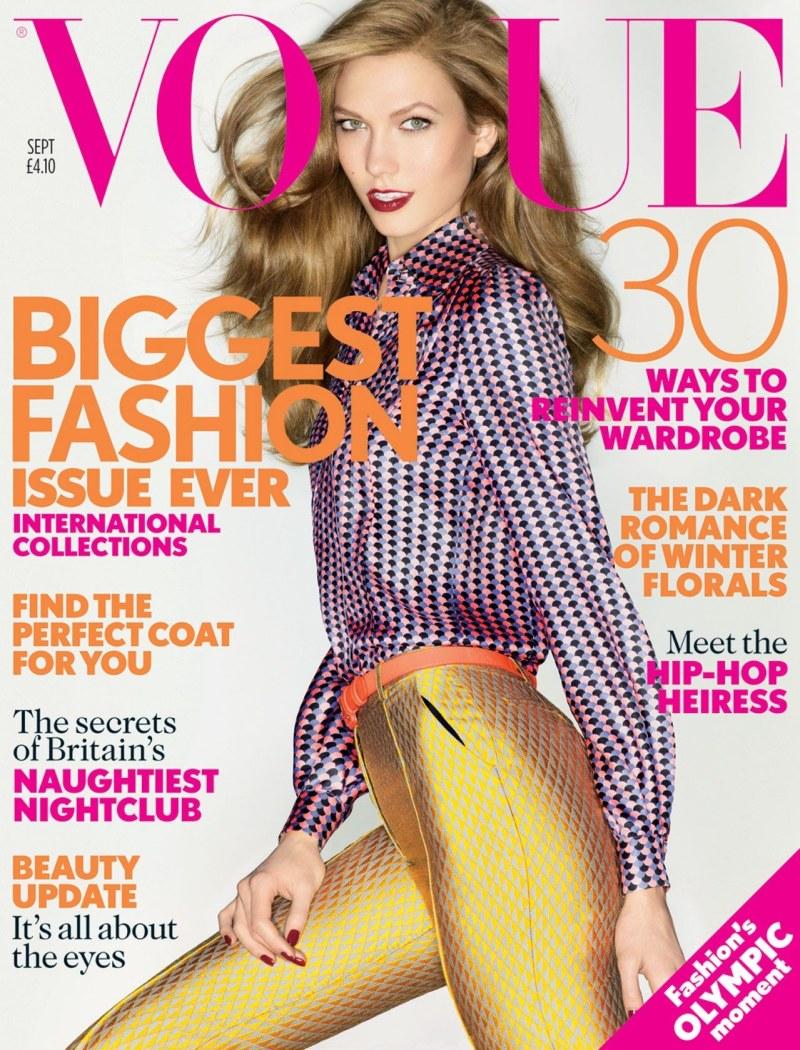 Karlie Kloss covers British Vogue September 2012  PHOTOS Vogue September 2012