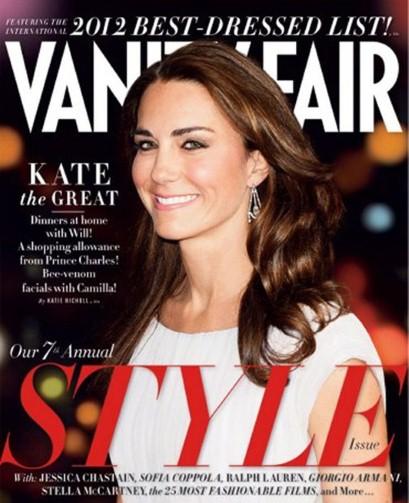 kate middleton vanity fair sept 2012 Kate Middleton: Vanity Fairs Best Dressed and September Cover Girl 2012