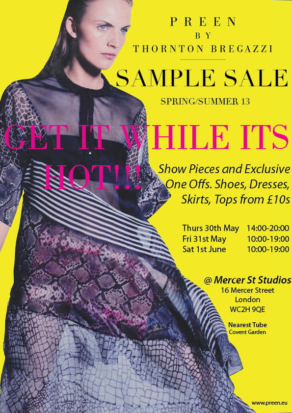sample sale poster