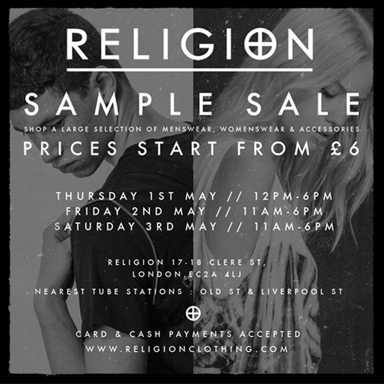 Religion Sample Sale square