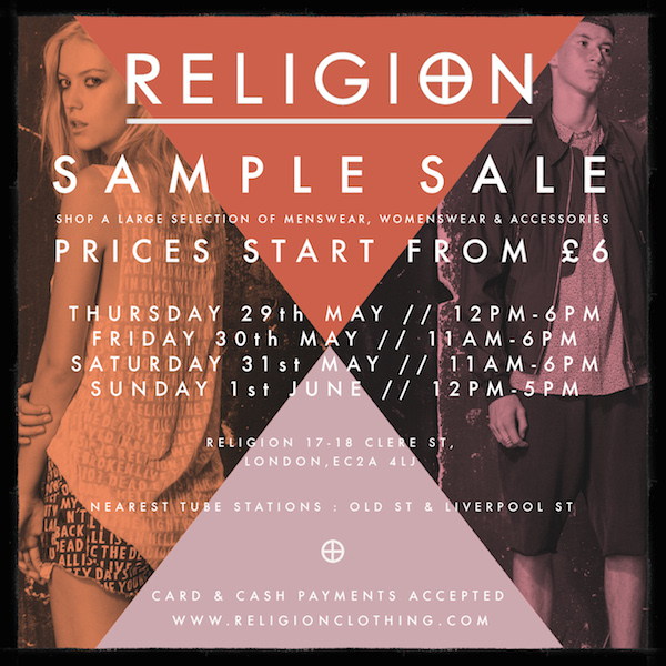 Religion sample sale