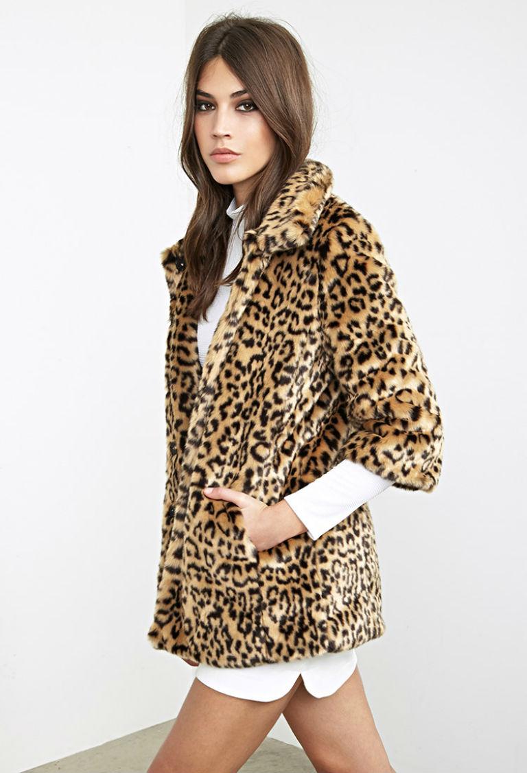 5 - Forever 21 Faux Fur Cheetah Coat £52.99