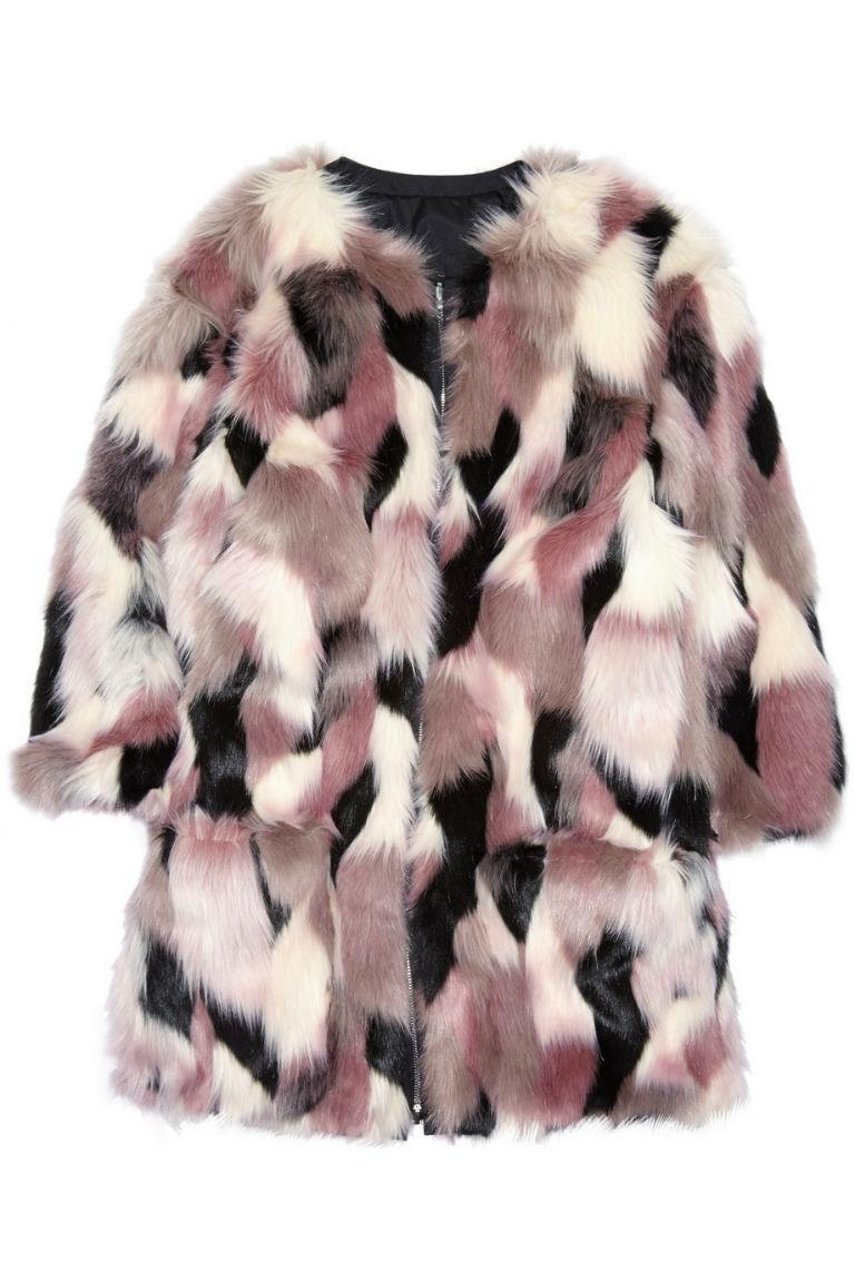 9 - Nina Ricci Reversible Patchwork Faux Fur Coat, £1,265